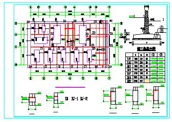 某底层框架住宅楼全套结构cad设计图-图一