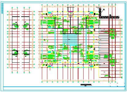 某电子电器物流港中央空调cad设计图纸-图一