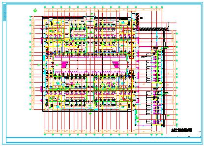 某电子电器物流港中央空调cad设计图纸-图二