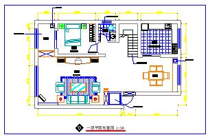 某复式住宅楼室内装修装饰cad设计图纸-图一