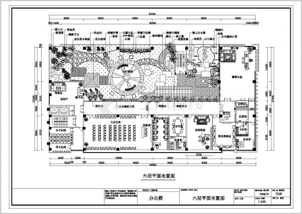 全新某房地产公司屋顶花园施工图-图一
