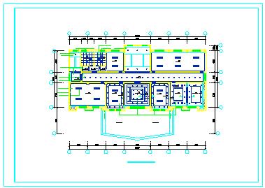 某公司办公室整层室内装修cad设计图纸-图一