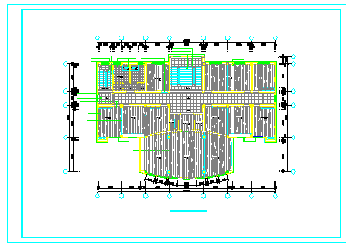 某公司办公室整层室内装修cad设计图纸-图二