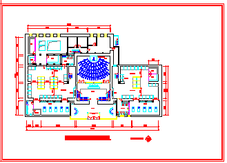 某国际连锁健身俱乐部室内装饰装修cad设计图纸-图二