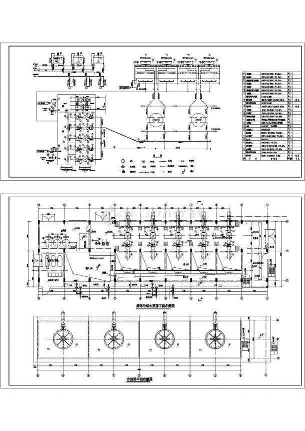 某电厂循环水泵房cad施工图-图一