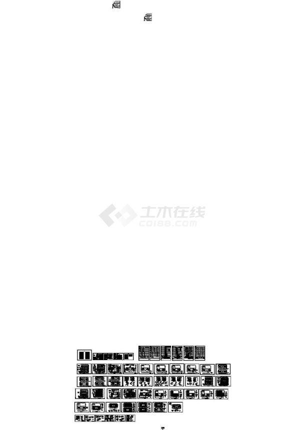 [北京]知名酒店会所给排水施工图(直饮水系统 中水回用系统)-图一