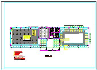 某会所天花吊顶室内装饰cad设计施工图纸-图二