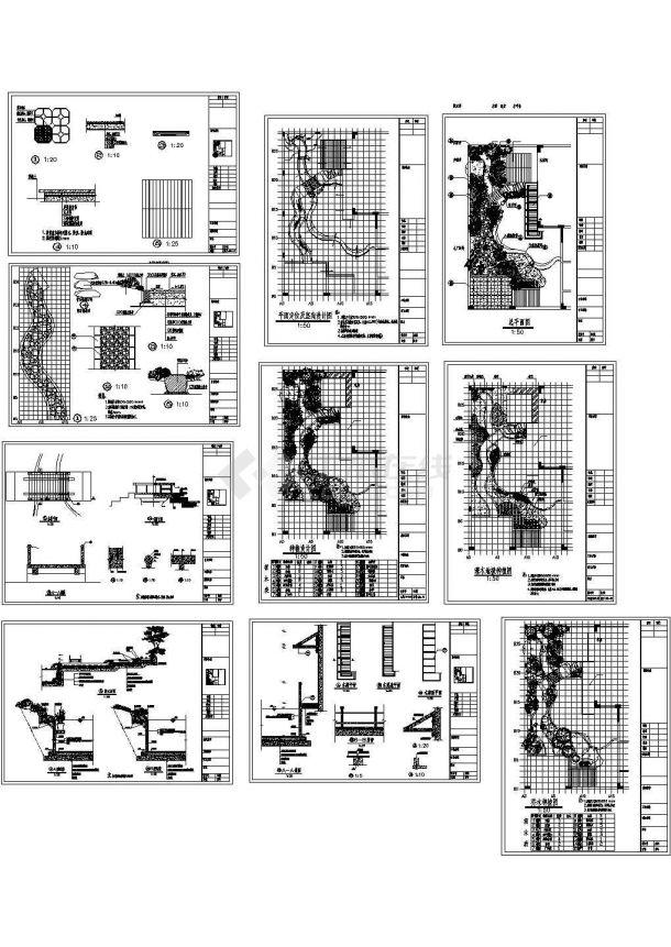 园林绿化施工cad图(含平面图,共十张)-图一