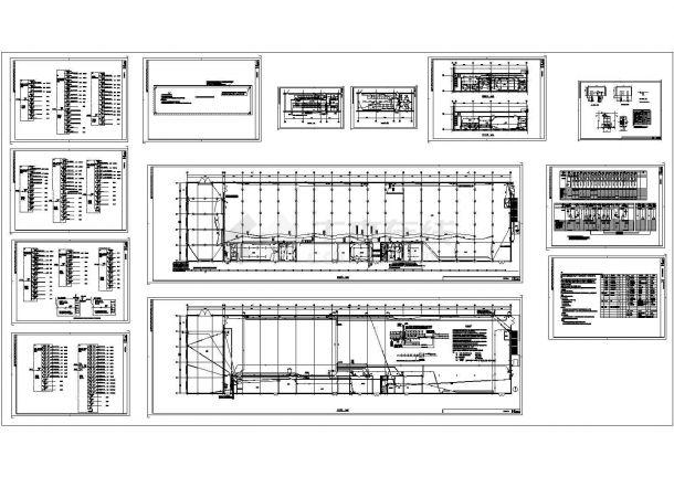 带电3000KVA高低压配电室厂房电气施工图纸-图一