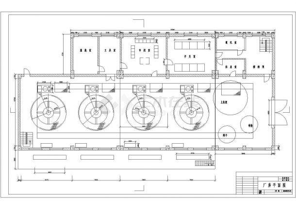 水利发电站厂房全套建筑设计施工图-图二