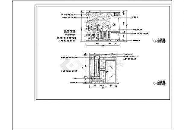 某城市时代城梦想家园样板房CAD建筑设计施工图-图一