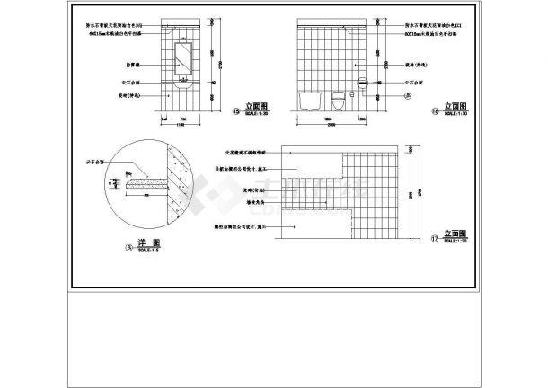 某城市时代城梦想家园样板房CAD建筑设计施工图-图二
