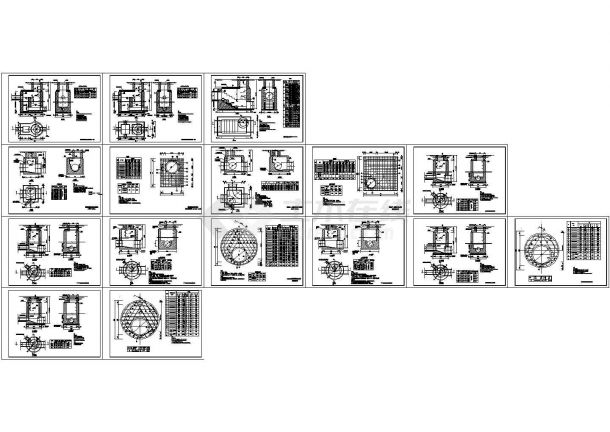 给排水设计中常用的砖砌污水检查井cad构造图(甲级院设计,16图)-图一