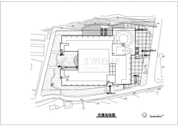 [四川]某大学图书馆整套装修CAD建筑设计施工图-图一
