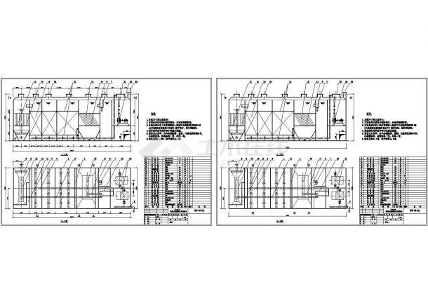 埋地式生活污水处理设备剖面图-图二