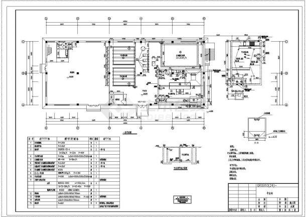 某大型工业中水站CAD给排水构造施工图设计图-图一