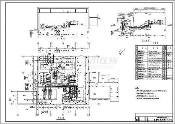 某工厂成套三万吨cass工艺图纸-图一
