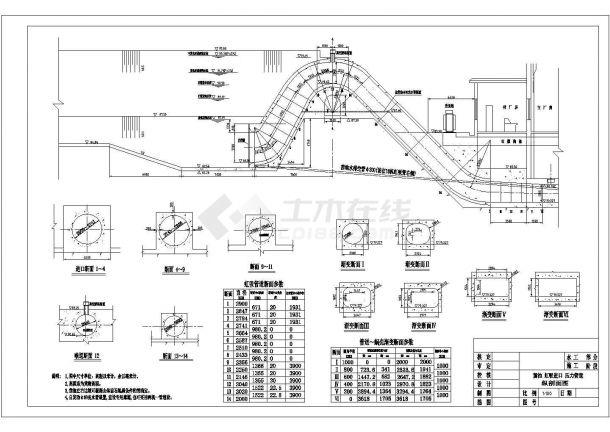 低水头水电站虹吸管CAD全套图纸-图一