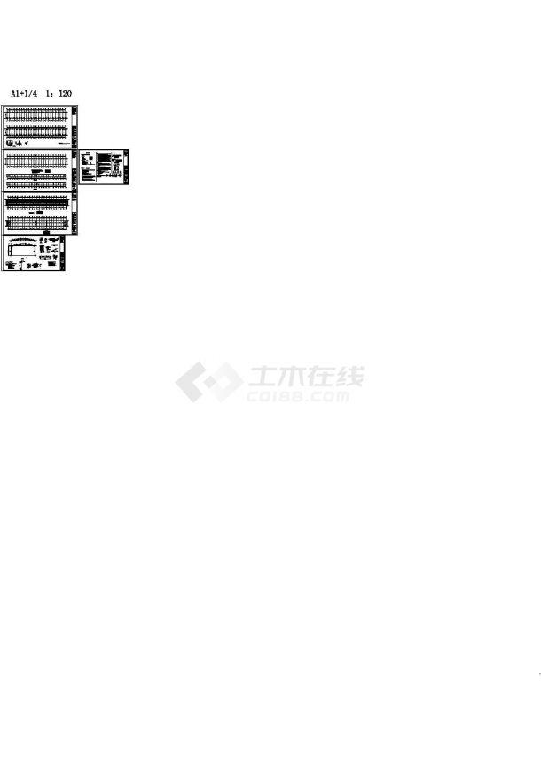 某10米跨集市简易棚(1132㎡)钢管桁架结构设计cad全套施工图(含设计说明)-图一