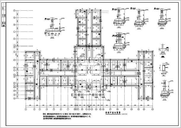 江苏省宿迁市某中医院框架结构门诊楼全套装修施工CAD图纸-图二