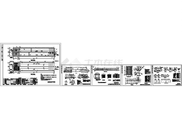 某6万t水厂絮凝沉淀池设计cad全套施工图(标注详细)-图一