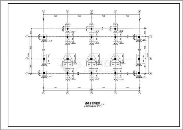 安徽省亳州市某某街道工地五层框架商住结构施工CAD图纸-图一