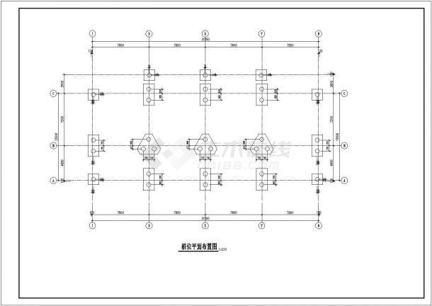 安徽省亳州市某某街道工地五层框架商住结构施工CAD图纸-图二