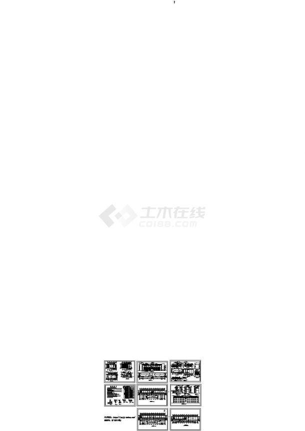 3层1644.8平米乡政府办公楼建筑施工图cad-图一