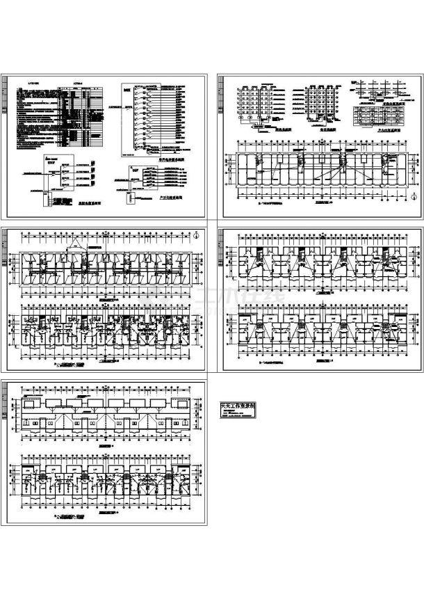 某五层住宅楼电气设计CAD图纸-图一
