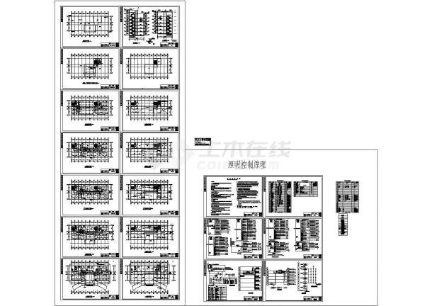 某六层办公楼电气施工cad图,共二十二张-图一