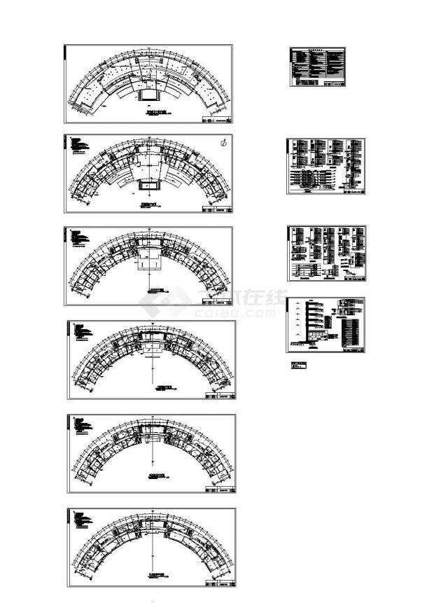 某五层行政办公楼电气施工cad图,共十三张-图一