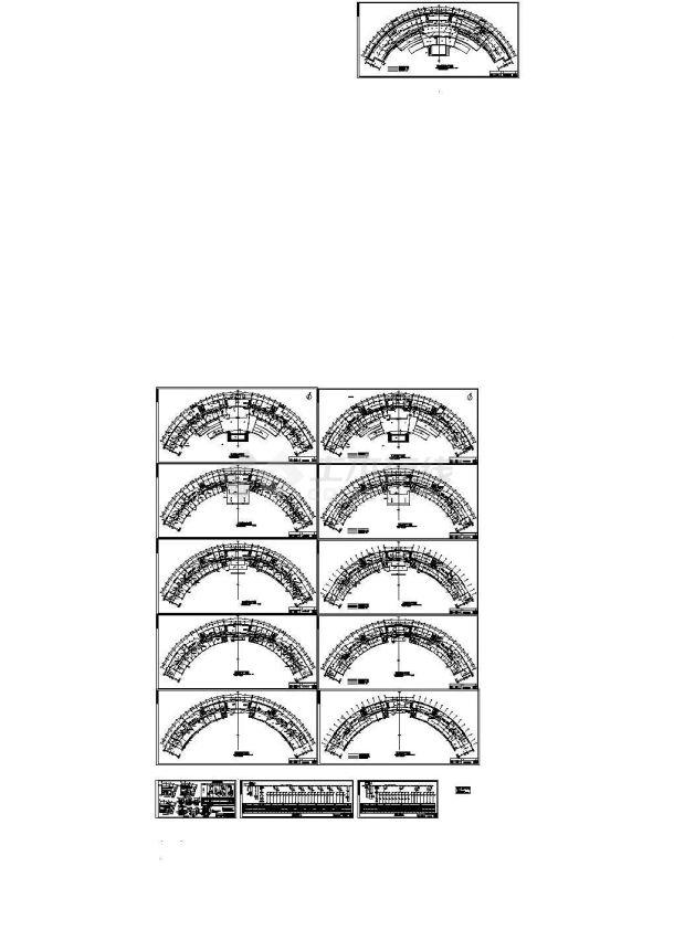 某五层行政办公楼电气施工cad图,共十三张-图二