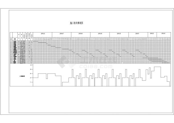 3600平米六层框架结构住宅楼设计cad图纸-图一