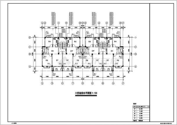 浙江多层住宅小区给排水施工图-图二