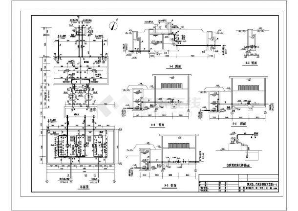 某清水池自用水泵房CAD大样设计完整工艺图-图一
