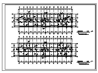 商住楼设计_某6层框架结构商住楼全套结构施工cad图纸-图二