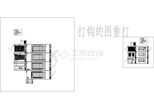 【江苏】某高层办公楼给排水CAD设计图-图一
