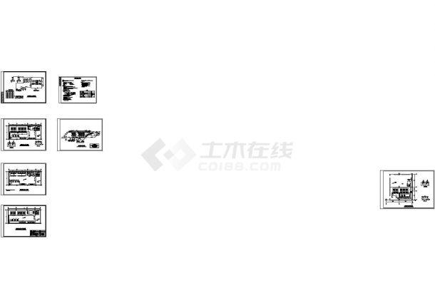 [唐山]某沿街商业群楼暖通、给排水工程施工图(含水源热泵机房系统原理图和管道连接图)-图一