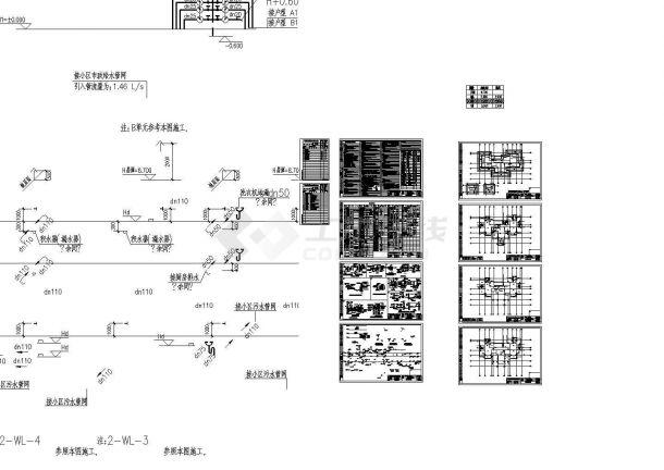 广东某地上十层居住住宅全套给排水图纸-图一