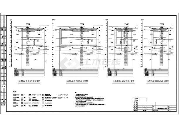 [广东]地铁车站风道围护结构钻孔灌注桩设计详图-图二