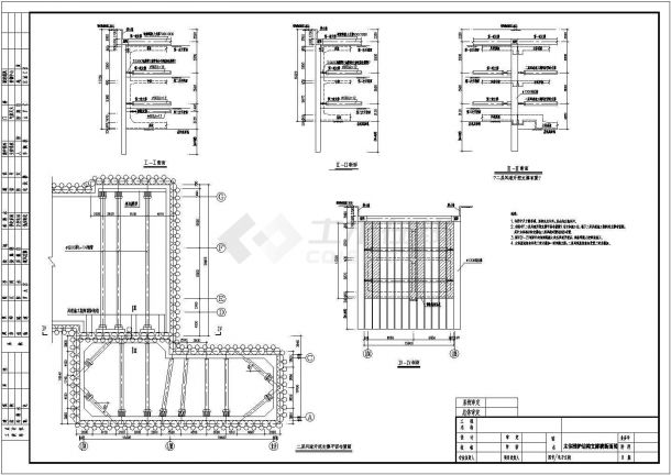 [广东]地铁深基坑围护结构施工图(钻孔灌注桩 钢支撑)-图一
