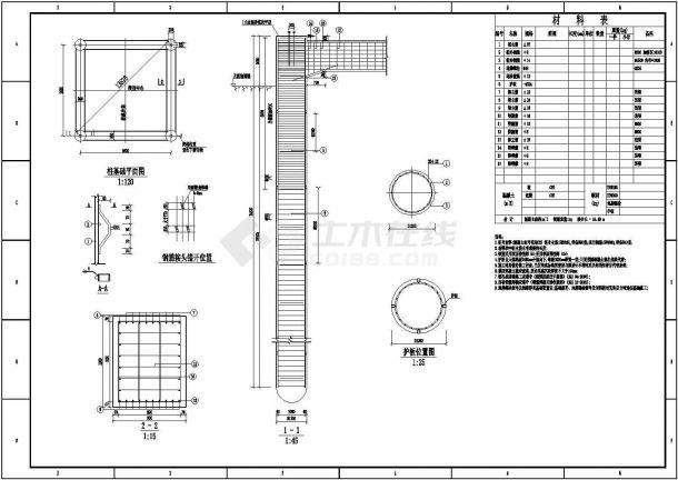 某结构基础工程钻孔灌注桩及弹性连梁设计图-图一