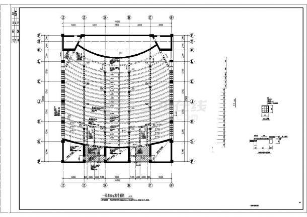 山东省某市委党校会议中心整体装修结构施工设计CAD图纸-图二