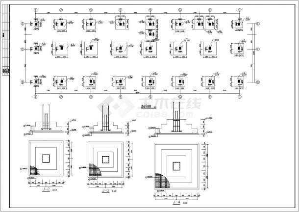 山东省某连锁房地产公司分店框架结构综合楼施工CAD图纸-图一