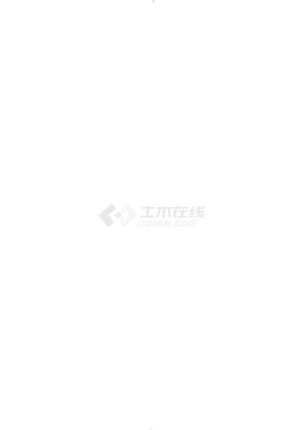 [安徽]深基坑钻孔灌注桩排桩加斜抛撑支护cad施工图-图一