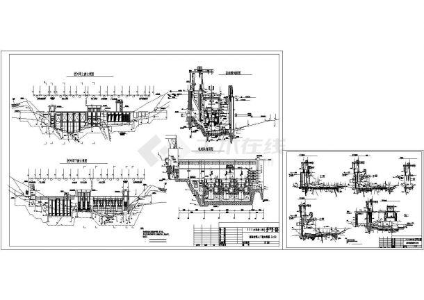 某水电站枢纽总布置图剖面图-图一