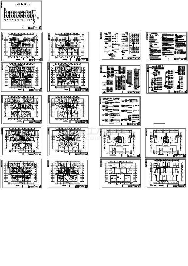 某高层住宅电气图纸-图一
