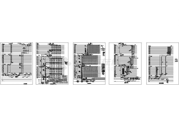 上海某超高层办公楼给排水系统设计cad施工图(地上54层,地下4层)-图一