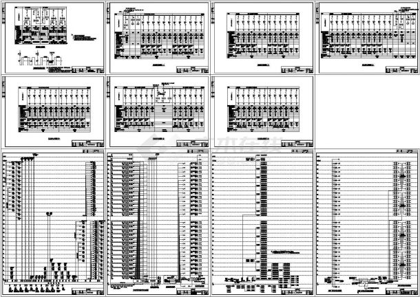 28层综合楼全套电气系统图(强、弱电cad图纸)-图一