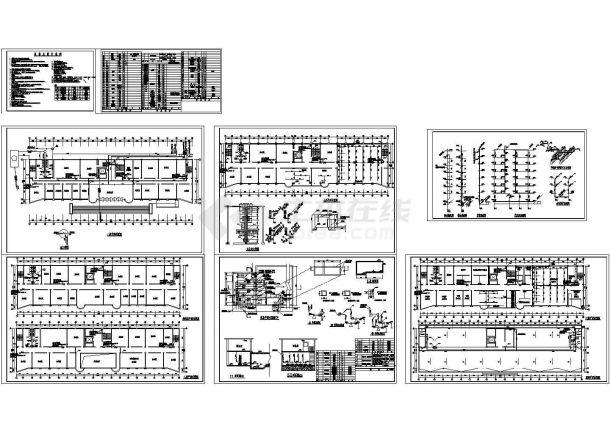 某高层办公楼给排水施工方案设计CAD图纸-图一